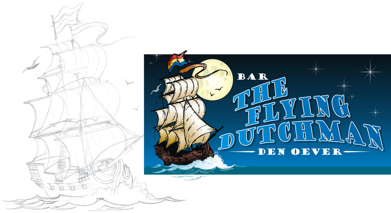 Logo ontworpen voor Bar The Flying Dutchman