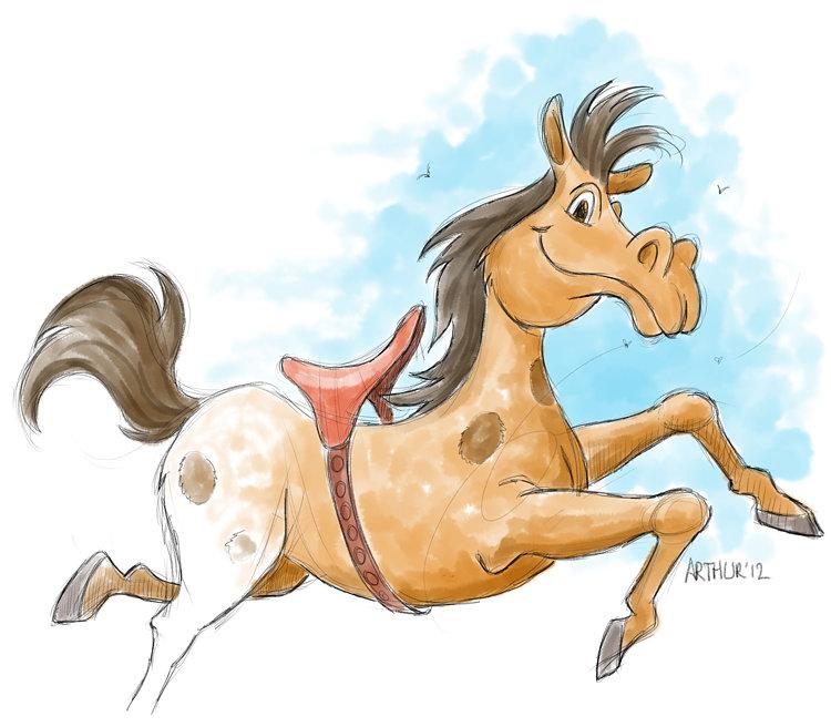 Mal paard niet afgemaakt